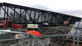 toppled bridge
