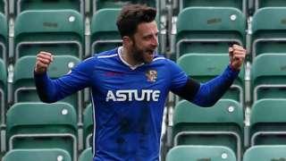 Chris Whelpdale celebrates goal