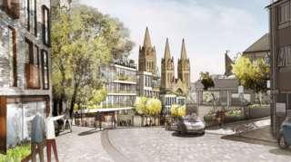 Artist impression of the planned Pydar Street redevelopment in Truro