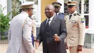 Le président Ali Bongo du Gabon