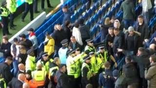 Police and fans at Leeds United v Birmingham City (19.10.19)