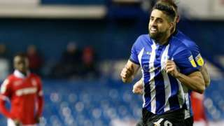 Marco Matias celebrates Sheffield Wednesday goal