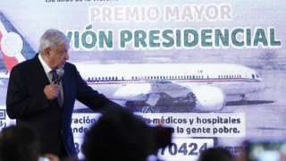 The president of Mexico, Andres Manuel Lopez Obrador, speaks during his daily press conference at the National Palace in Mexico City
