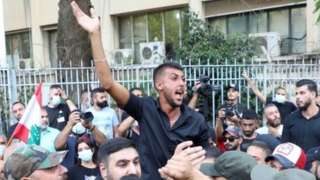 Hezbollah and Amal supporters protest against investigation