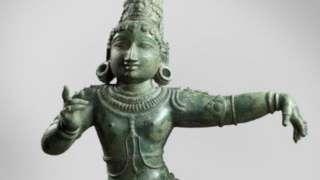 12th Century sculpture of the dancing child-saint Sambandar