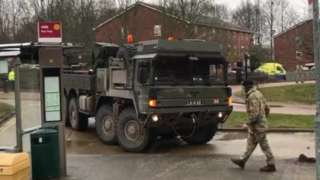 A military vehicle in Salisbury