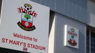 Sign outside St Maty's Stadium