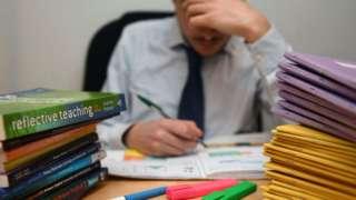 Teacher marking work