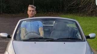 Adam Elliott in his Ford Ka
