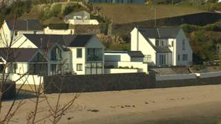 Homes overlooking the coast at Abersoch