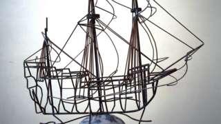 Mayflower sculpture