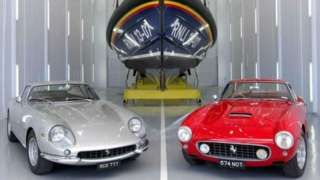 the two Ferraris donated to the RNLI