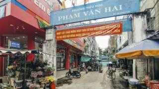 Sau khi giải thể chợ Ông Tạ được dời sang gần đó cũng trên con đường này lấy tên là chợ Phạm Văn Hai.