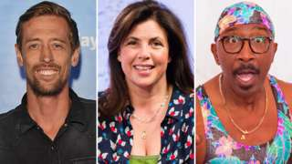 Peter Crouch, Kirstie Allsopp and Mr Motivator