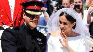 ميغان ماركل وهاري في حفل زفافهما