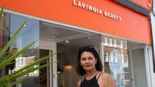 Gita Lavingia, owner of beauty salon Lavingia Beauty in Clapham