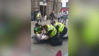 Man arrested in street in Leeds