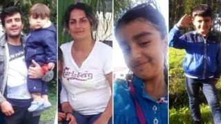 Rasoul Irannejad, 35, and 15-month-old Artin, Shiva Mohammad Panahi, 35, Anita, nine, and Armin, six