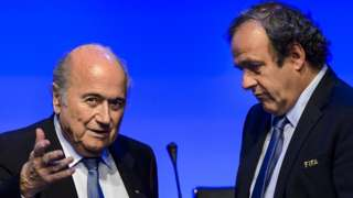 SappBlatter da Michel Platini