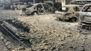 Vehicles damaged in car park fire