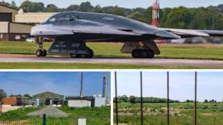 B2 Stealth Bomber, the waste plant & land where new digestor could be built