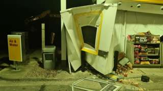 Damage caused by ATM thieves, Dargate