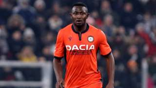 Ghana's Nicholas Opoku in action for Udinese
