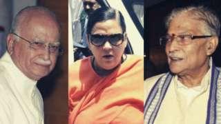 అద్వానీ, ఉమా భారతి, మురళీ మనోహర్ జోషి