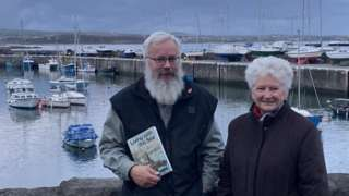 Staffan Overgaard and Angela Little at Port St Mary Harbour