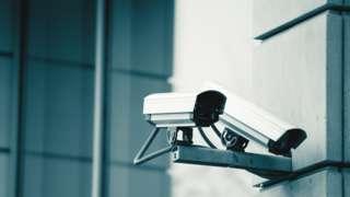 CCTV cameras on a building