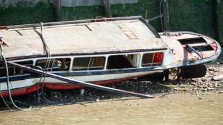 The pleasure boat Marchioness sank after being hit by the dredger Bowbelle on the River