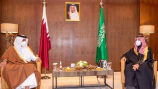 محمد بن سلمان اور قطری رہنما