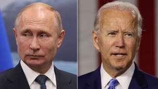 Vladimir Putin and Joe Biden