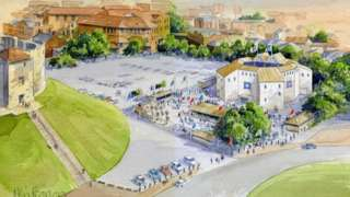 Artist's impression of pop-up theatre in York