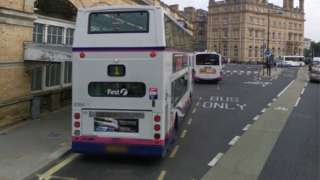 Buses at York station