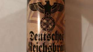 Beer with Nazi-style label