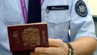 Heathrow passport check, 2007