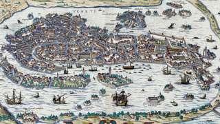 Mapa antiguo de Venecia