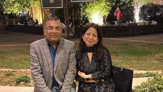 Taruna and her late husband, Rajeev
