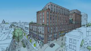 An artists' impression of the proposed development at the former Marks and Spencer store