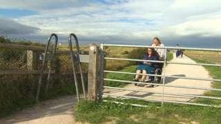 Wales Coast Path at Talacre