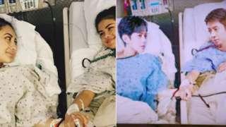 Original image of Francia Raisa and Selena Gomez beside the doctored image