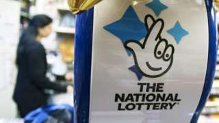 A National Lottery logo