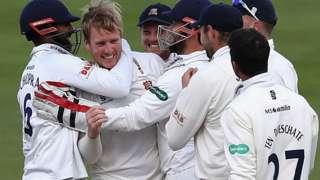 Essex celebrate innings victory against Warwickshire at Edgbaston