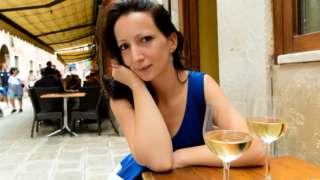 Венецианка в уличном кафе