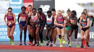 Women's elite race a