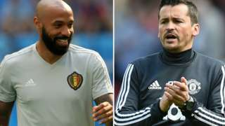 Thierry Henry and Rui Faria