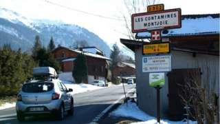 The Alpine resort of Les Contamines-Montjoie