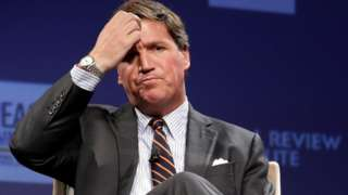 Fox News host Tucker Carlson discusses 'Populism and the Right' during the National Review Institute's Ideas Summit at the Mandarin Oriental Hotel March 29, 2019.