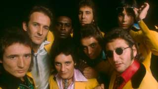Showaddywaddy (top l-r) Trevor Oakes, Romeo Challenger, Russ Field, Dave Bartram, (bottom l-r) Al James, Rod Deas, Buddy Gask and Malcolm Allured